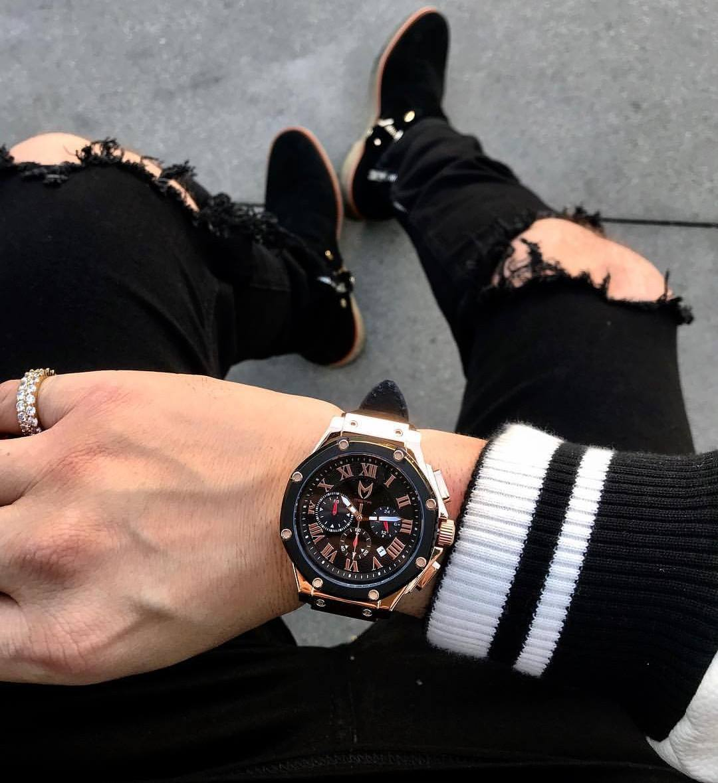 Rosé Goud & Zwart – Leer