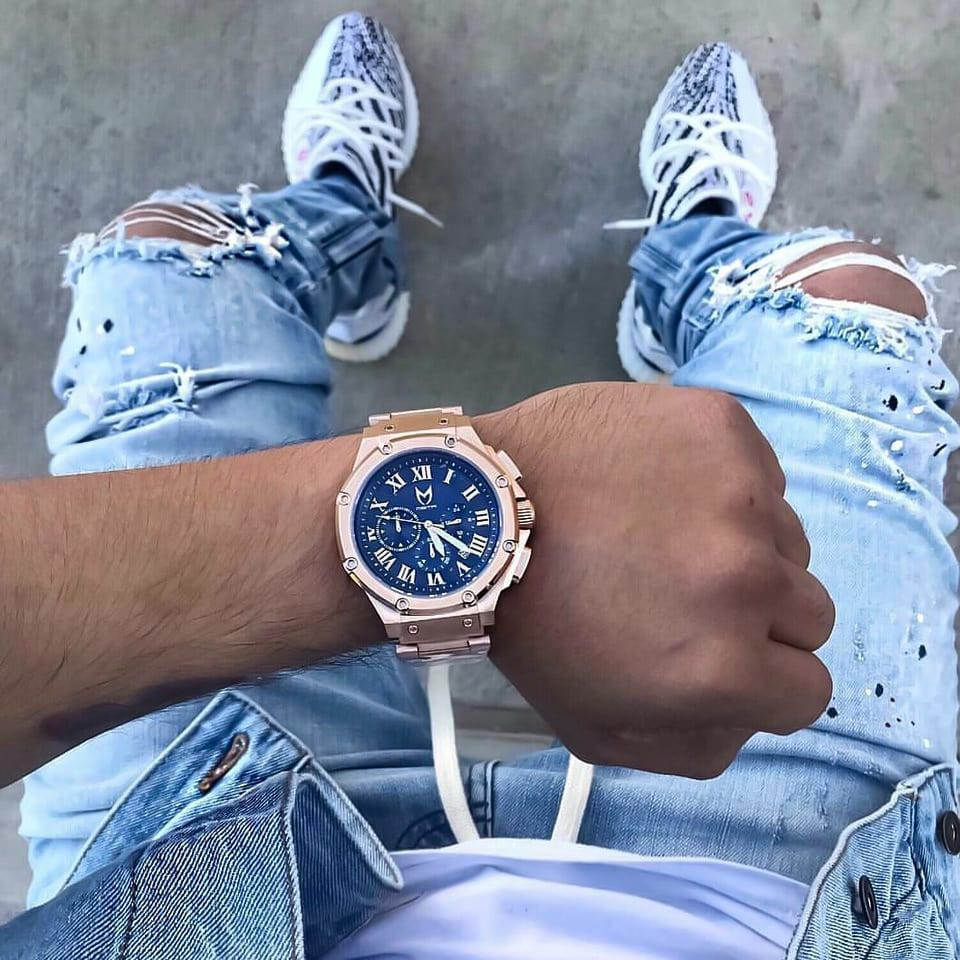 Rosé Goud & Blauw