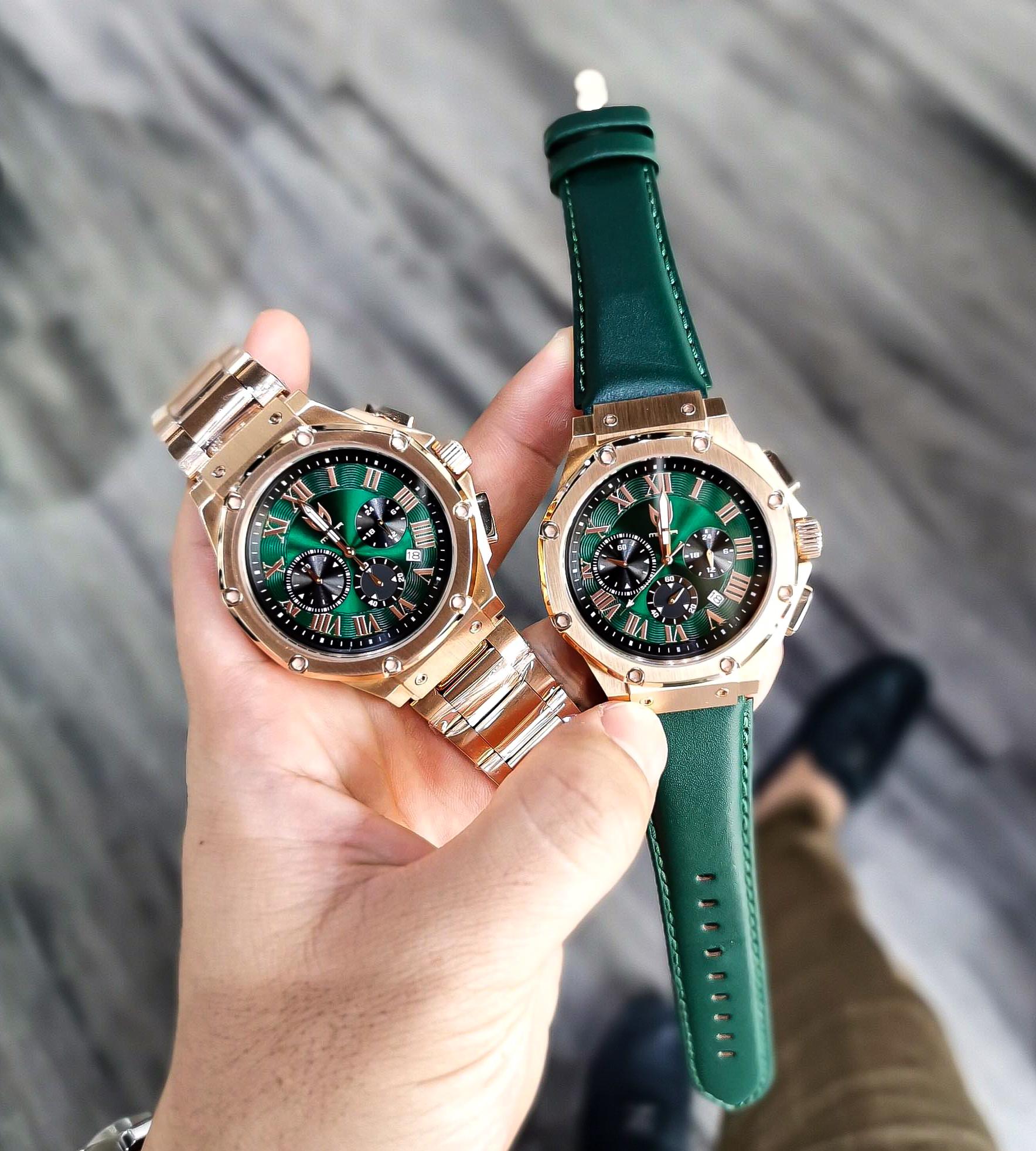 Rosé Goud & Groen –  Leer