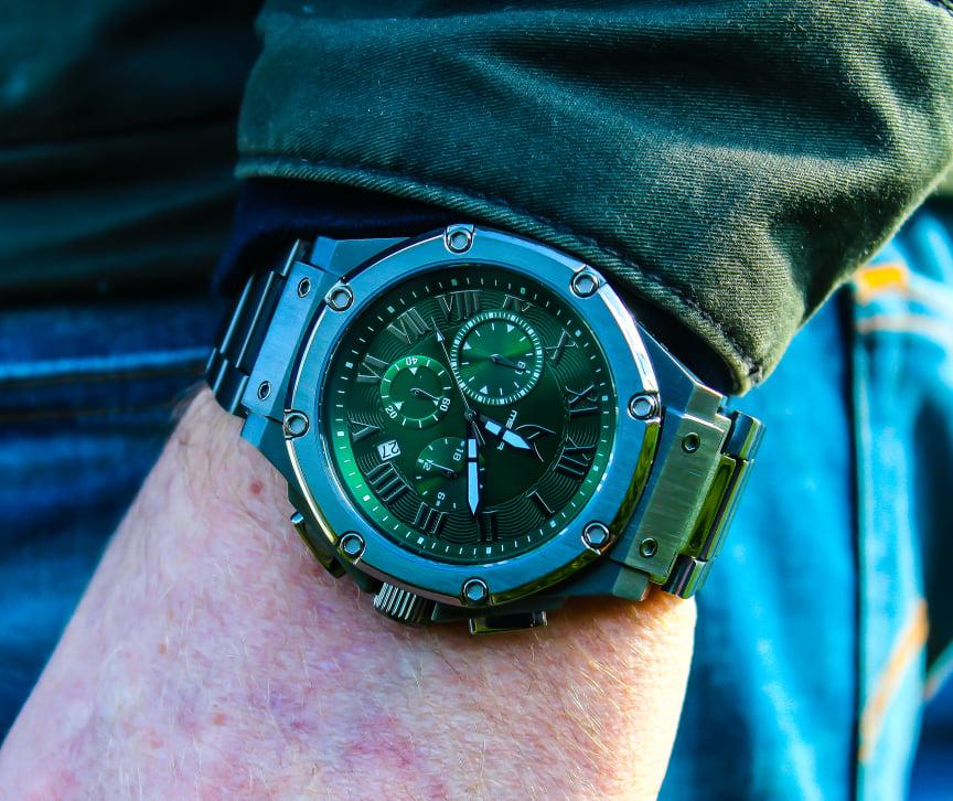 Titanium Grijs & Groen